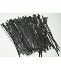 "50 LB HEAVY DUTY 100 PC. 8"" Long BLACK UV Cable Zip Ties Ty Wraps MADE IN USA"