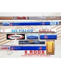 15% Silver Brazing Rods 5 RODS Worthington, Harris Stay-Silv, Sil-Fos, Lenox ...