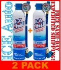 2 PACK EZChill Air Conditioning Refrigerant Oil ACPro R-134a 18 oz CANS MAC134