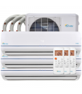36000 BTU Tri Zone Ductless Mini Split Air Conditioner (2x9000BTU + 1x18000BTU)