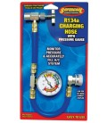 R134A Recharge Measuring Hose A/C Refrigerant Charging-Pipe Hot w Gauge 41275