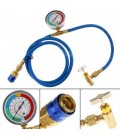 1.5m R134a AC HVAC Recharge Measuring Refrigerant Hose Can Tap with Gauge System