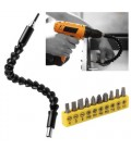 Flexible Extention Screwdriver Set head Drill Bit Holder Quick Magnetic Connect